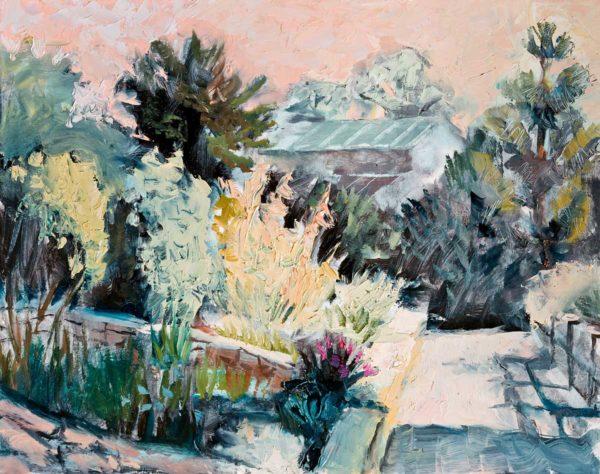 oil painting, garden, art, Lisa Blackshear, North Carolina, Asheville, Arboretum