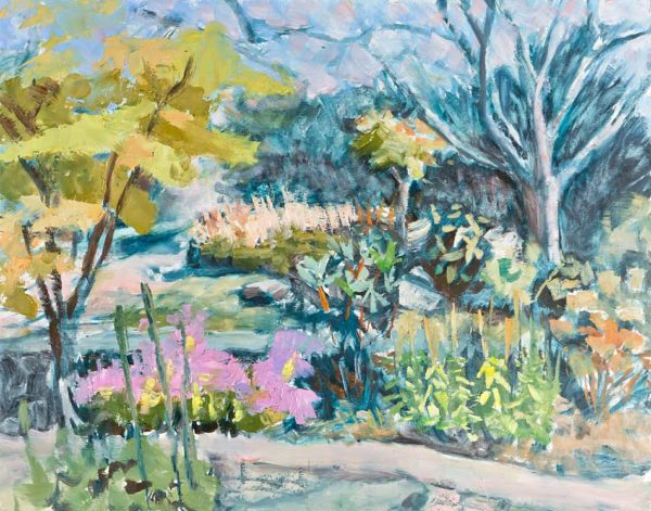 oil painting, asheville, arboretum, garden, flowers, nature, art, Lisa Blackshear
