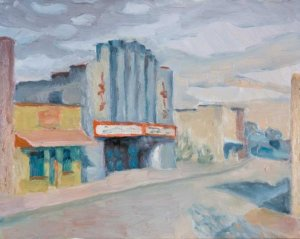oil painting, Lisa Blackshear, Asheville, Isis Theater, art