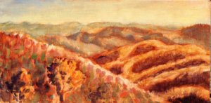 Oil paintings, Lisa Blackshear, Blue Ridge Parkway