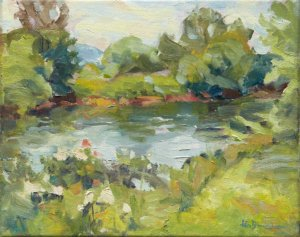 "French Broad River 8x10"" oil on stretched linen"