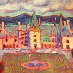 "Biltmore Estate Colorful 8x10"" oil on linen"