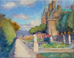 """Biltmore Italian Gardens 11x14"""" oil on stretched linen"""