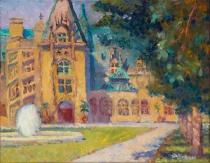 """Biltmore Fountain Left 11x14"""" oil on stretched linen canvas"""