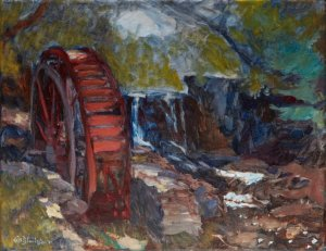 Waterwheel at Lake Louise 11x14 oil on stretched linen