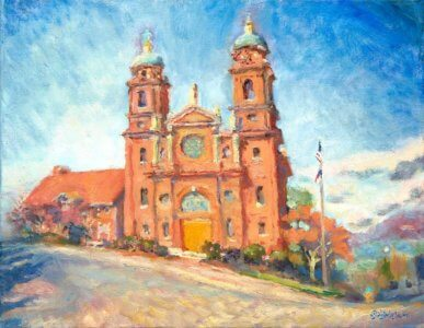 Painting of the Basilica of St. Lawrence