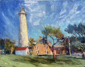 Painting of St. Simons Lighthouse by Lisa Blackshear