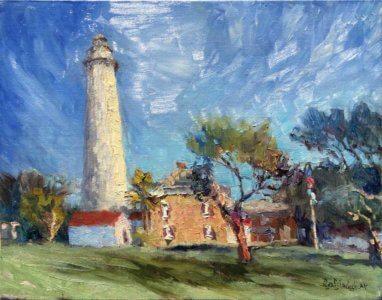 Painting of St. Simons Lighthouse by Lisa Blackshear