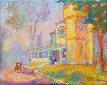 Thomas Wolfe House Asheville impressionist painting