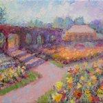 Oil Painting of Tulips in Biltmore's Walled Garden